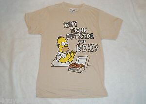 96fd33cb2 Womens Tee Shirt THE SIMPSONS Why Think Outside The Box? DONUTS M 8 ...