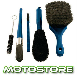 MOTORCYCLE-5-PIECE-BRUSH-CLEANING-KIT-WASH-GIFT-PACK-VALET-SET-CAR-CYCLE-ATV