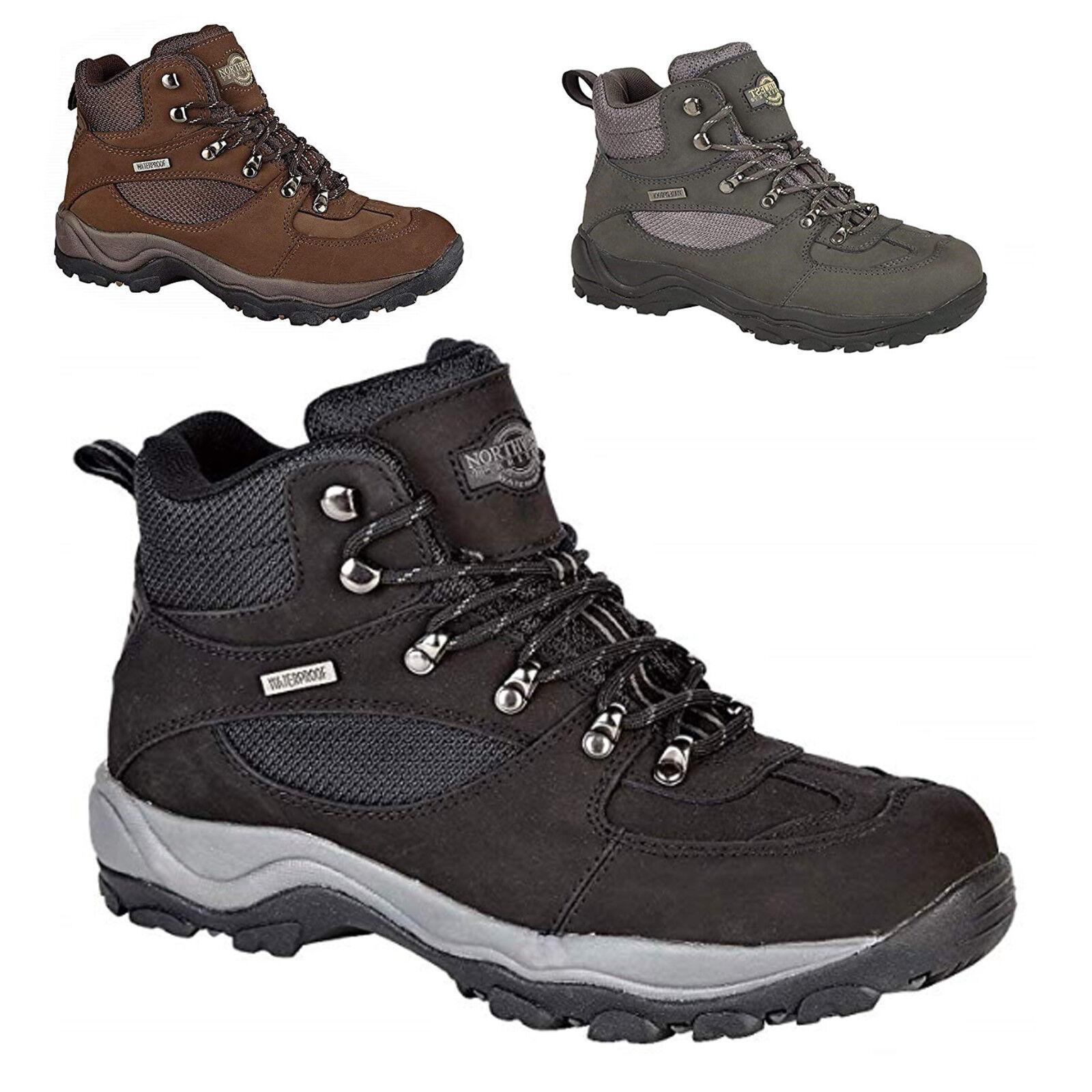 Herren Northwest Territory Hiking Walking Waterproof Real Leder Schuhes Größe 6-13