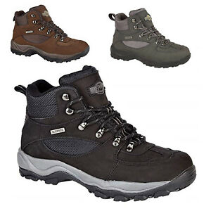 0cc75ea642f Details about Mens Northwest Territory Hiking Walking Waterproof Real  Leather Shoes Size 6-13