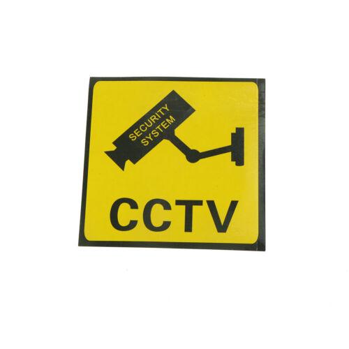 6Pcs Home CCTV Surveillance Security Camera Video Sticker Warning Decal SignsZJP
