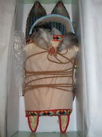 Seymour Mann 18 Vinyl Collector Doll American Indian Baby In Papoose