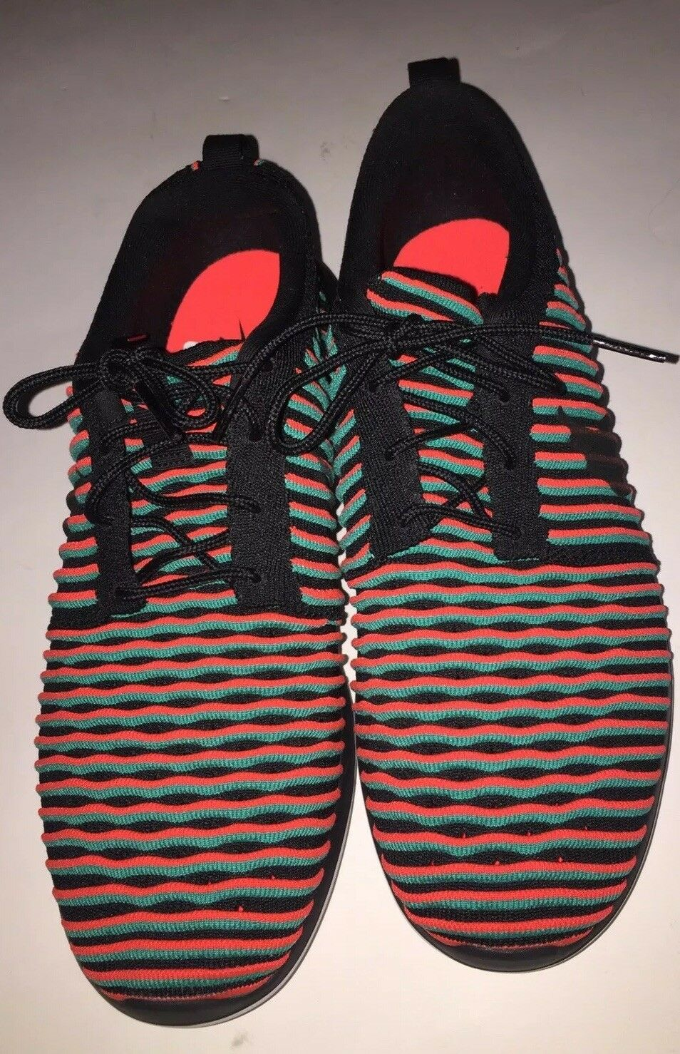 Nike Roshe Two Flyknit orange Mens Running Workout Sneakers 844833 003 Size 10