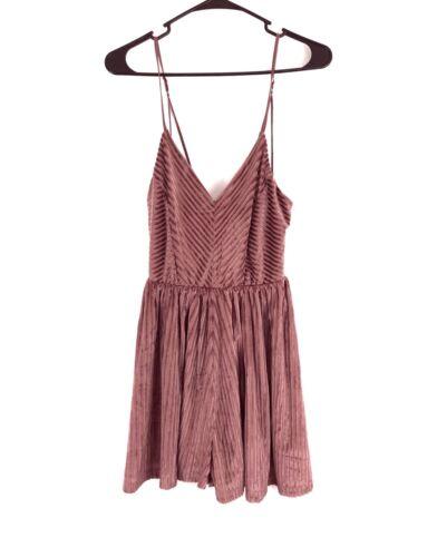 Rose Womens Medium Pagliaccetto Rosa Swing Taglia Novità Velvet Striped Forum Dress Pq85xpSf