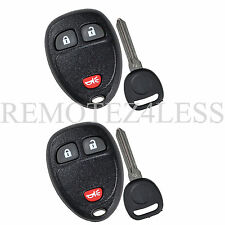 2 New Replacement Keyless Remote Car Fob for 15913420 + Circle Plus Keys n Clips