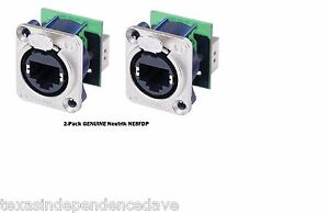 2-Pack-Neutrik-NE8FDP-Ethercon-RJ45-Feed-Through-D-Series-Panel-Mount-Jacks