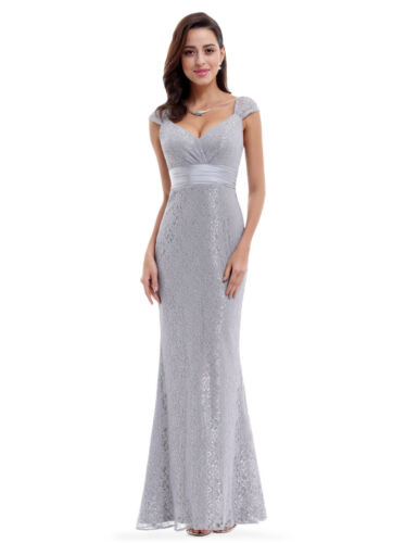 Ever-Pretty US Cocktail Ball Prom Gowns Plus Grey Maxi Homecoming Dresses 08798