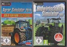Landwirtschafts Simulator 2011 Bauernhof + Agrar 2011 & Biogas Gold PC Spiele