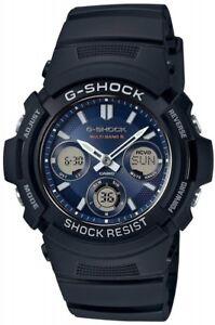CASIO-wristwatch-G-SHOCK-radio-solar-AWG-M100SB-2A-Men-039-s-NEW-From-Japan