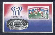 s5316) KOREA 1978 MNH** World Cup Football-Campionato Mondiale Calcio S/S IMPERF