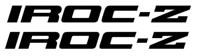 85-90 Camaro IROC-Z Z28 RS TPI Rocker Decals Black Pair *8590Z-1