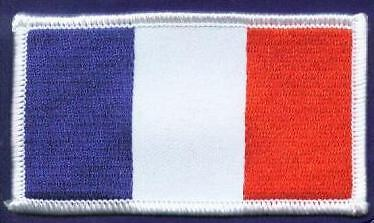 FRANCE OBLONG FLAG WORLD EMBROIDERED PATCH BADGE