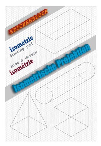 """Isometriepapier isometrisches Zeichnen Block /""""Sonderposten/"""""""