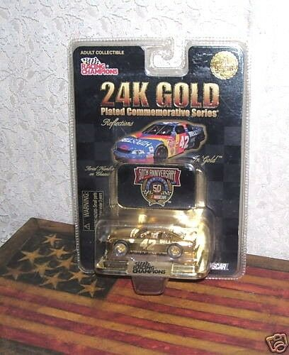 RACING CHAMPIONS 50TH ANNIVERSARY CAR 24K gold COMMEMORATIVE