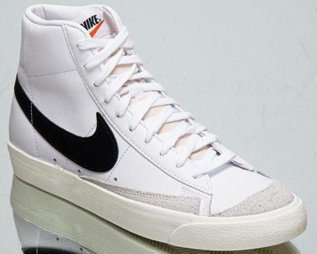 Nike Blazer Mid '77 Vintage Men's White Black Casual Lifestyle Sneakers  Shoes