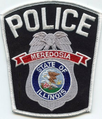 MEREDOSIA ILLINOIS IL POLICE PATCH
