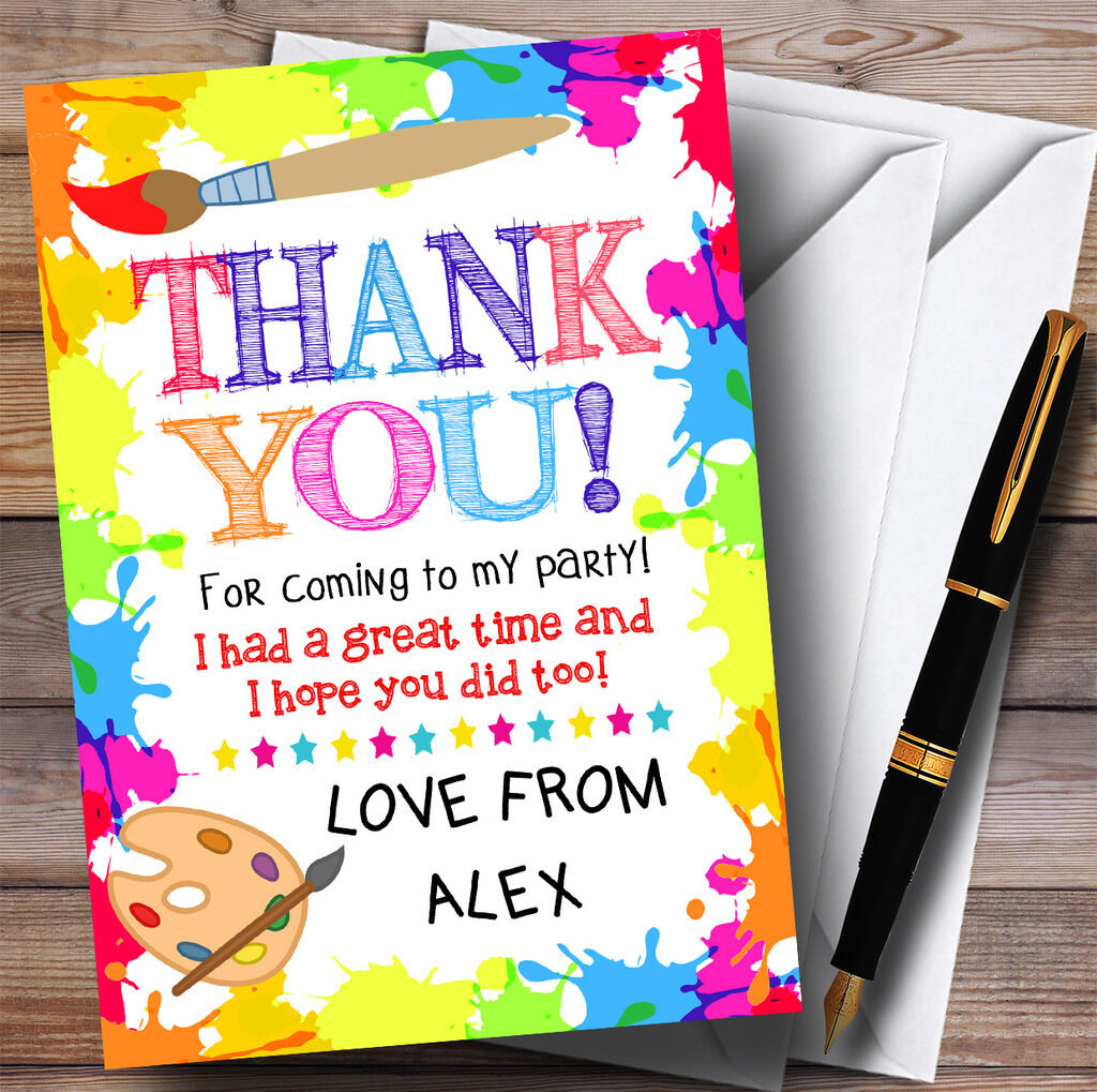 Crafts Art Painting Party Party Thank You Cards
