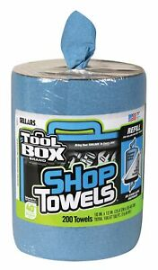 Sellars-Toolbox-Blue-Shop-Towels-Big-Grip-Bucket-Refill-200-ct-5520701