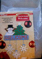 Needlecraft Shop Plastic Canvas Kit Snowman Welcome Christmas Ornament