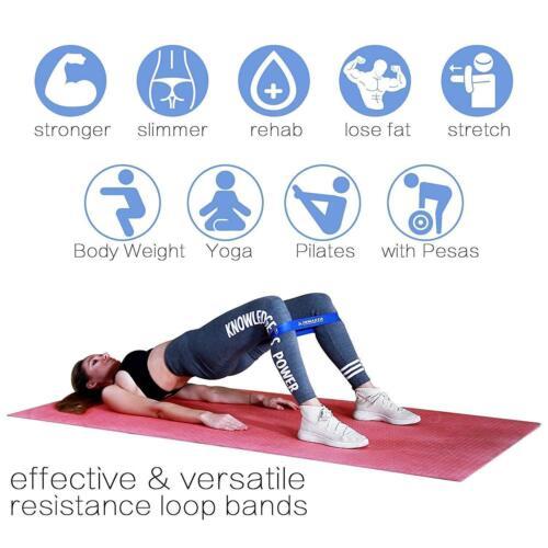 Allenamento Resistenza Bande Loop Set Crossfit Fitness Yoga preda gamba esercizio nastro de