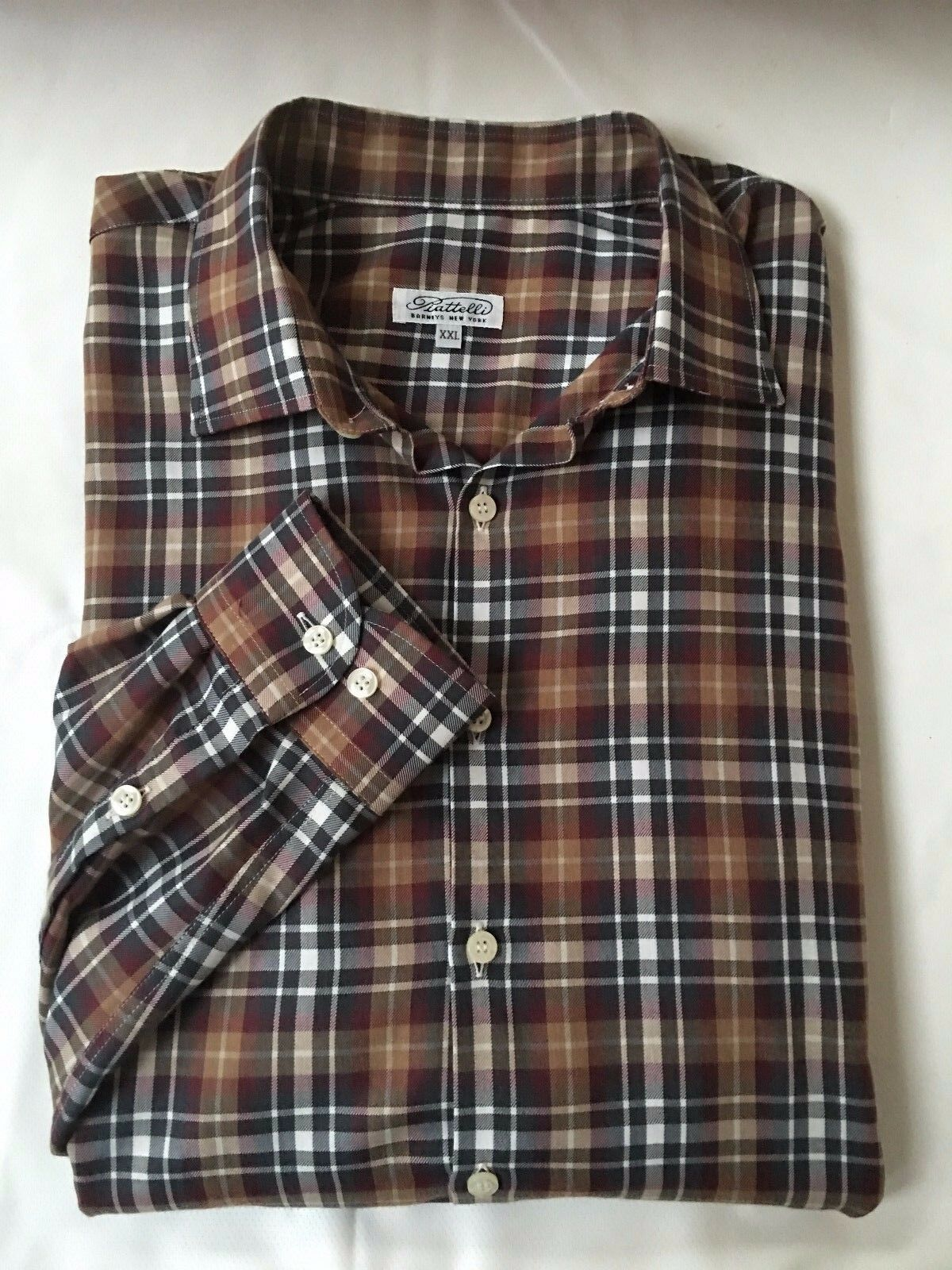 Piattelli Barneys New York men's long sleeve plaid shirt Size XXL