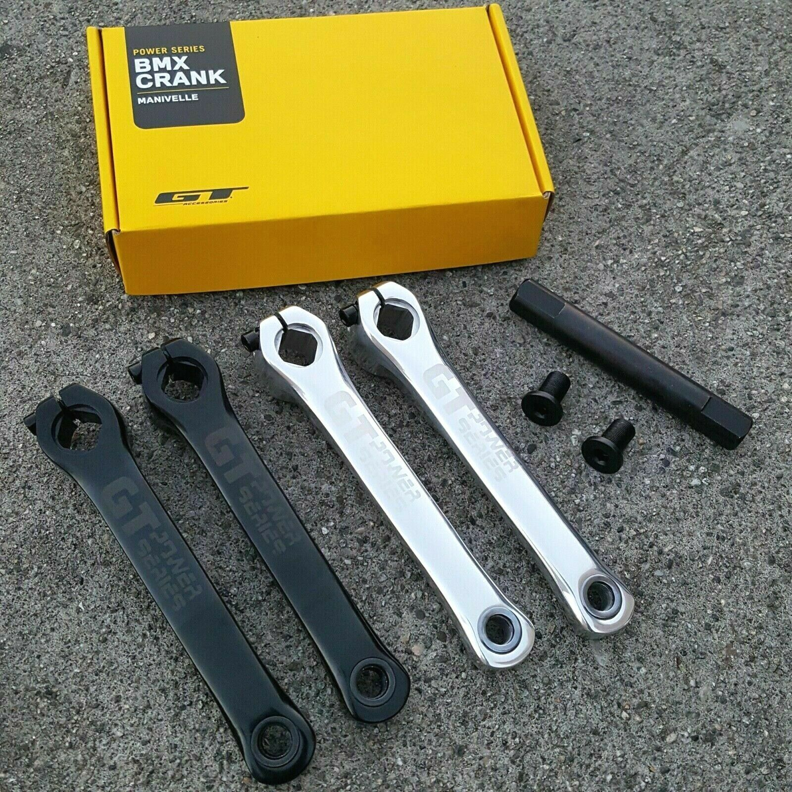 GT Power Series Aleación Bielas Negro O Cromo 175MM Bicicleta BMX Bielas Haro rojoline