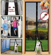 Magic Mesh Fliegengitter 18 Magnete Fliegen Vorhang für Tür Balkon Terrasse Netz