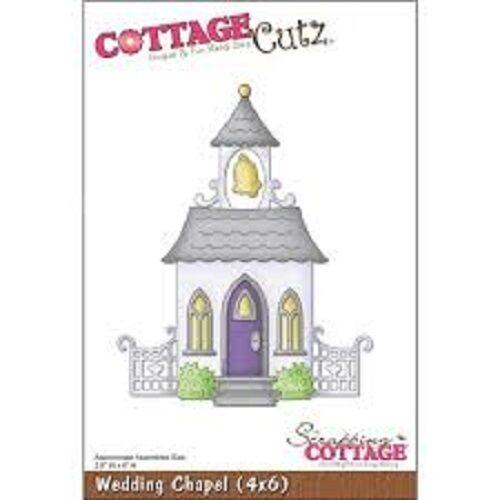 Cottage Cutz Wedding Chapel 4 x 6 Découpe Set Church Just Married-Neuf