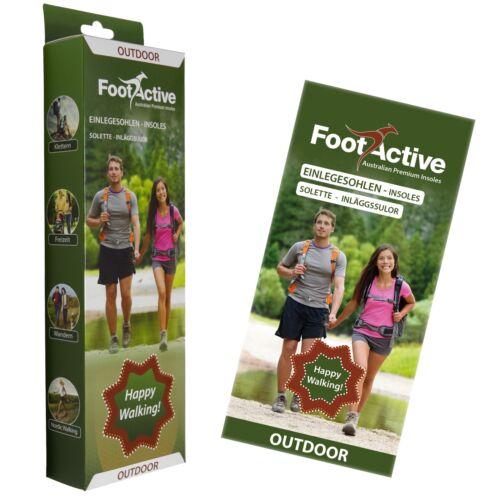 Einlegesohlen f FootActive Outdoor Abenteuerfreunde! Naturliebhaber
