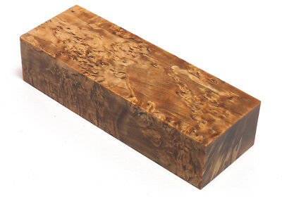 Custom Karelian Birch Premium Burl #14 Stabilized Knife Block 1.2x1.7x4.8 inches