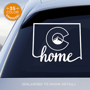 Colorado-State-034-Home-034-Decal-with-stylized-Colorado-flag-in-middle-of-decal