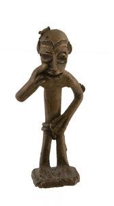 Statuetta, Statuetta Africana IN Bronzo, Vecchio-Lobi-Arte 1080