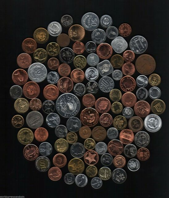 100 All Diffe Countries World Wide Currency Money Coin Collection Sets