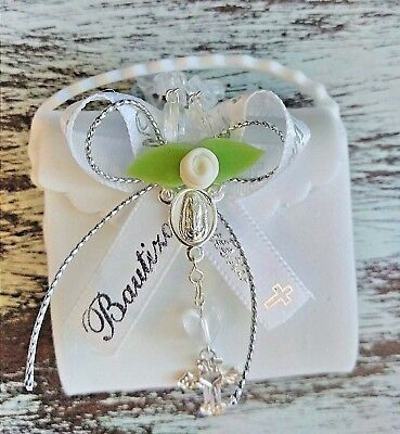 12 Recuerdos de Bautizo   //rosarios//Baptism christening favors