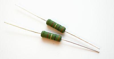 all values: 0.47 to 33 Ohm 2pcs 1pair of Jantzen Superes 5W 1/% Resistors