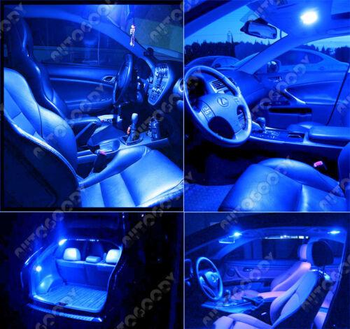 16 x Premium Blue LED Lights Interior Package Kit for 13-15 Lexus ES350 Tool