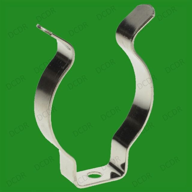 """100x T8//T12 Fluorescent Tube Holders 1/""""-1.5/"""" Terry Clips 15mm Clip on Tools etc."""