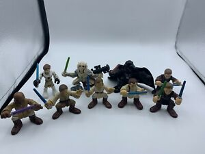 2001-2011-Hasbro-LFL-Star-Wars-Action-Figures-Galactic-Heroes-Lot-of-9