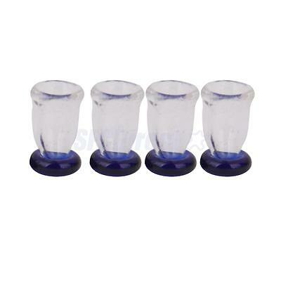 1/12 Dollhouse Miniature Pub Bar Accessory 4pcs Wine Beer Juice Cups Glasses