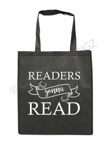 READERS GONNA READ BLACK COTTON SHOULDER TOTE  BAGS CANVAS SHOULDER STRAP