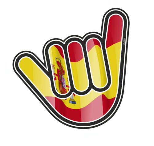 No Worries Hand With Spain Spanish Country Flag vinyl car Truck sticker decal
