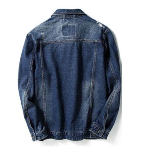 locomotora chaqueta corto mezclilla algodón chaquetas Outwear masculina moda abrigo 6xl S Nueva de 68wgSTqx