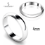 925-Sterling-Silver-D-Shape-Wedding-Ring-Band-2mm-3mm-4mm-5mm-6mm thumbnail 4