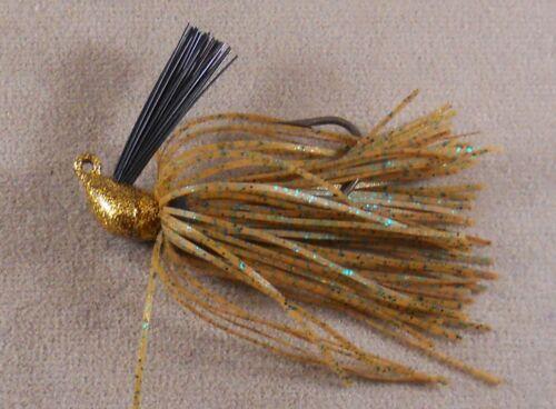 DR Custom Flipping Jig 3//8 oz Bass Fishing Lure Pumpkin Green FJ-31 Gold