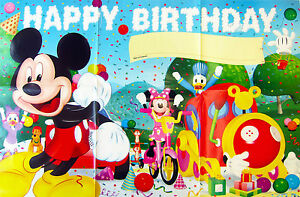 Mickey Mouse Clubhouse Happy Birthday Poster