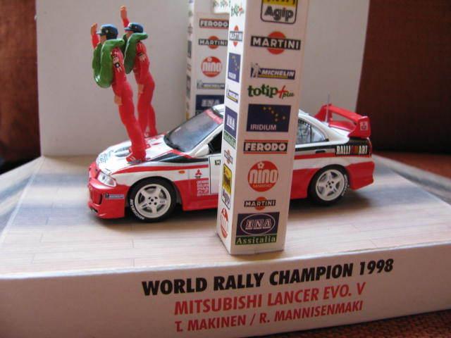 1 43 Mitsubishi Lancer Evo V (T.Makinen R.Mannisenmaki) World World World Rally Champion '98 715118