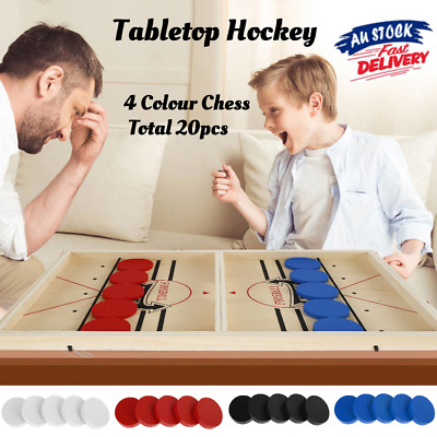 Details about  Large Sling Puck Paced SlingPuck Winner Board Game Family Games Toy Hockey Funny