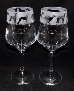 New-Etched-034-WHIPPET-034-Wine-Glass-es-Free-Gift-Box-Large-390mls-Wine-Glass