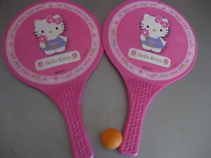 Hello-Kitty-Ballschlaeger-Tennis-Beachball-Sommer-Strand-Spielzeug-Ball-L37cm