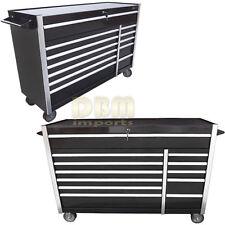 "56"" Bottom Roller Metal Tool Chest Cabinet Box Storage Steel 12 BBS Drawer Black"